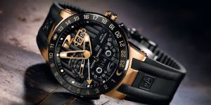black-and-gold-wristwatch